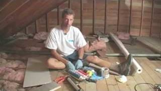 Materials for air-sealing and insulating an attic: Caulk, tape, and spray foam