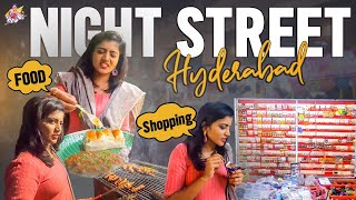 Night Street Food in Hyderabad || Night Market || Night Shopping Vlog || Shiva Jyothi || Jyothakka