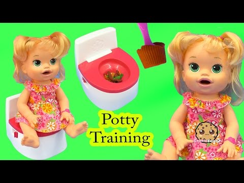 Potty Training Baby Alive Super Snacks Snackin' Sara Poops + Feed Doh Food Doll - Toy Play Video