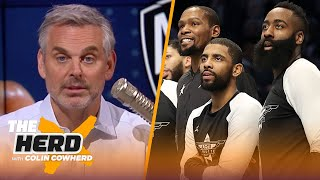 James Harden going to Nets shows difference between LeBron & Kevin Durant - Colin | NBA | THE HERD