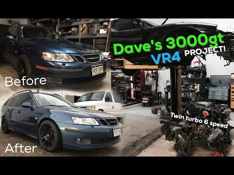 The Saab Dad wagon gets some mods! 3000gt VR4 Project ….
