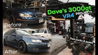 The Saab Dad wagon gets some mods! 3000gt VR4 Project ....