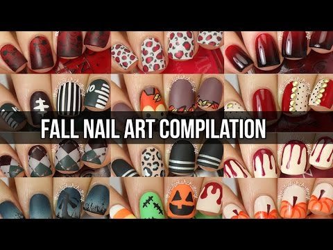 Huge Fall Nail Art Tutorial Compilation 15 Diy Nail Designs