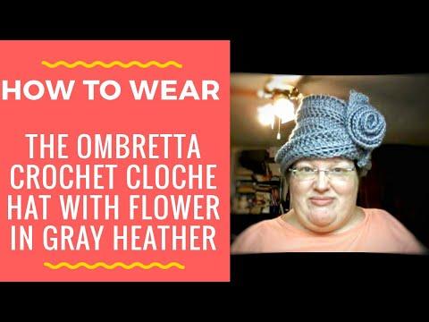 Crochet pattern cloche hat flower