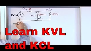 Kirchhoff's Laws in Circuit Analysis - KVL and KCL Examples - Kirchhoff's Voltage Law & Current Law