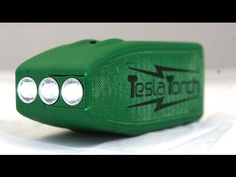 How to build the 3D Printed Tesla Torch fast charge flashlight V01