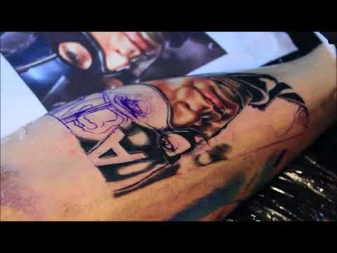Captain America Tattoo 1. Session