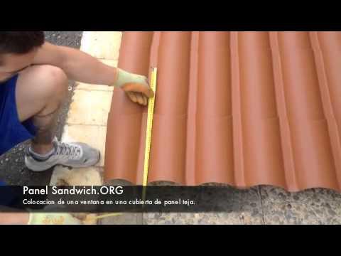 Panelsandwich colocacion ventana en cubierta de panel teja for Tejas de plastico leroy merlin