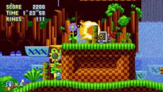 Sonic Mania Gameplay: Green Hill Zone Act 2 - PAX East 2017