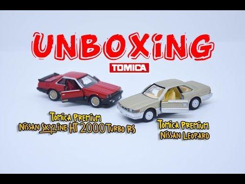 Tomica Premium - Nissan Skyline HT 2000 RS Turbo - Tomica Nissan Leopard