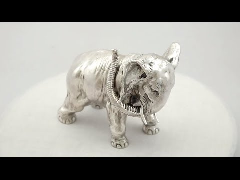Russian Silver Table Ornament of an Elephant by Karl Fabergé - Antique - AC Silver (A9443)
