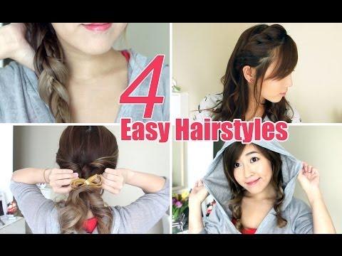 4 Easy & Cute Hairstyles