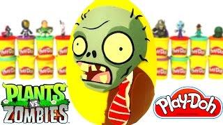 Plants vs Zombies Sürpriz Yumurta Oyun Hamuru - Zombi Oyuncakları Minecraft Anime