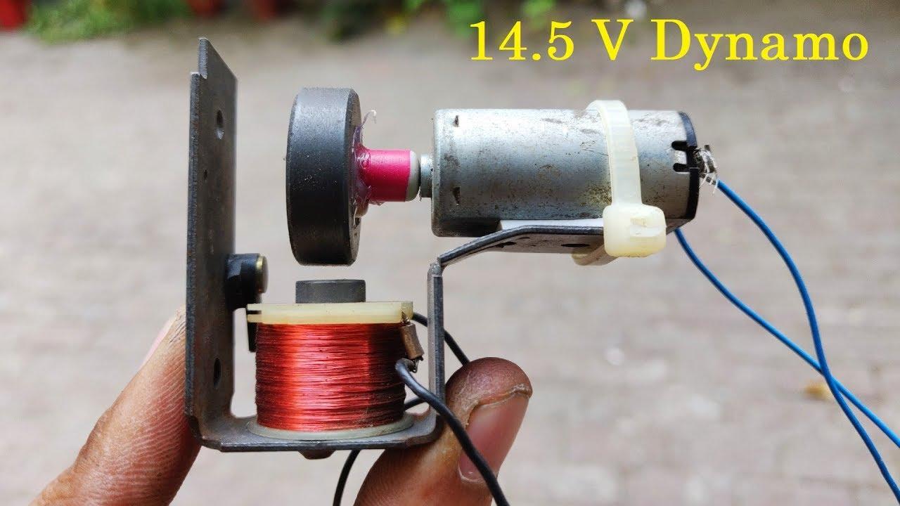 Homemade Generator Idea with Motor 2018