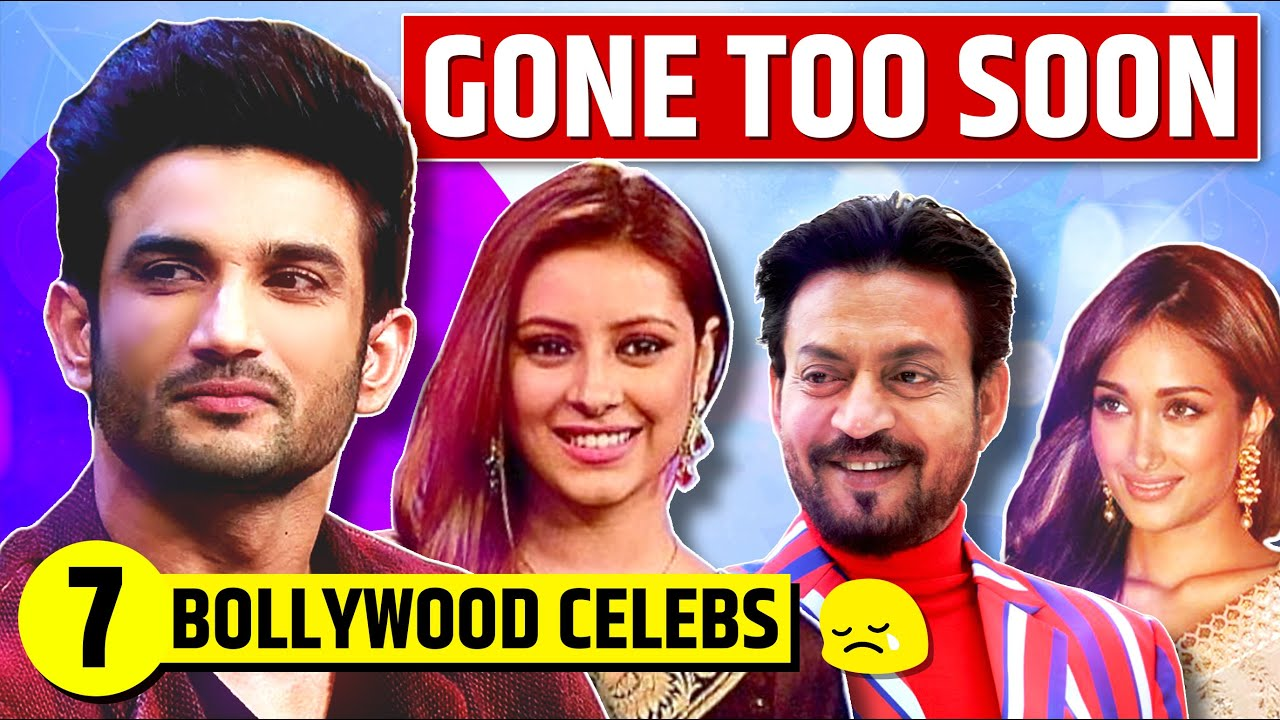 Download 7 Bollywood Celebrities Who Died Young | Sushant Singh Rajput | Gone Too Soon!