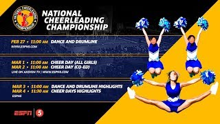 LIVE National Cheerleading Chionship 2018 Dance and Drumline