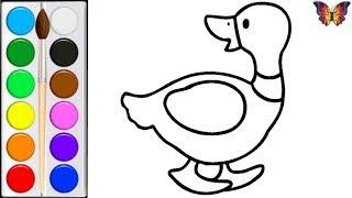 Как нарисовать УТОЧКУ / мультик раскраска УТОЧКА  для детей /Раскраски Малышам