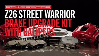 homepage tile video photo for Z26 Street Warrior Upgrade Brake Kit w/ Powder Coated Calipers | PowerStop