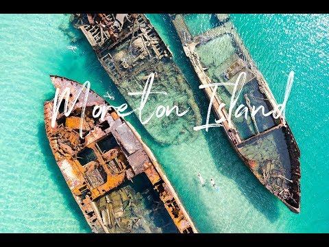 Tangalooma Island Resort, Ship Wrecks Drone Tour, Moreton Island, Queensland, Australia