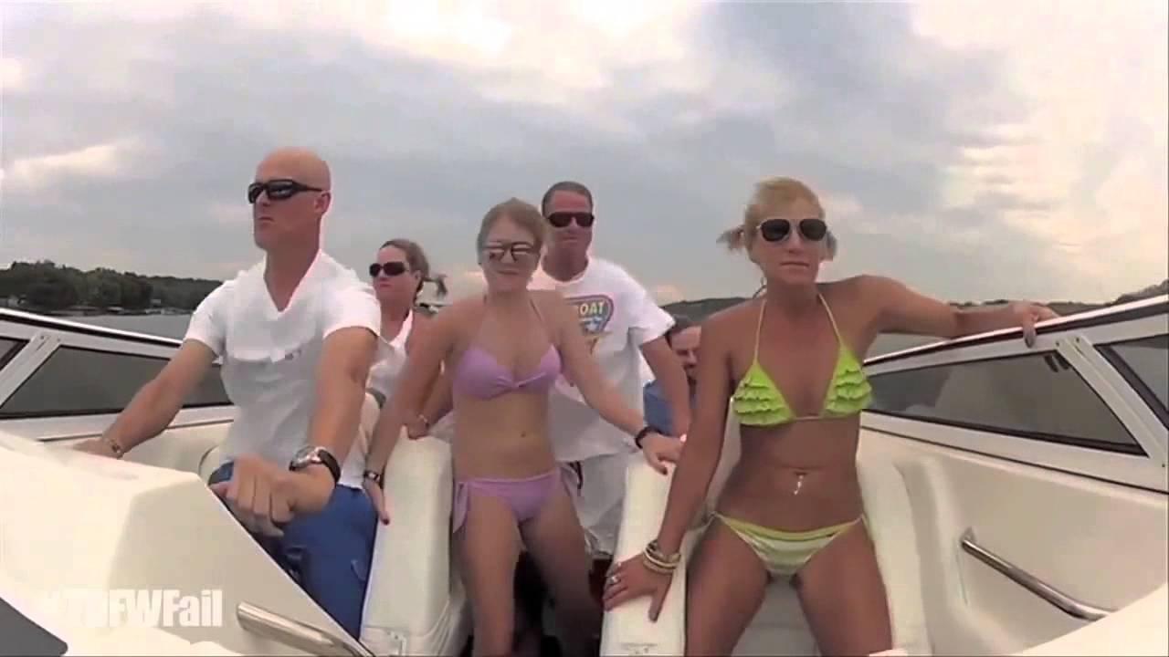 Bikini girl boating videos