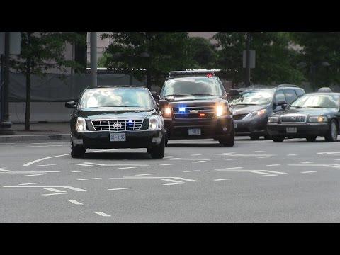 Diplomatic Motorcade - United States Secret Service + Metropolitan Police Department responding