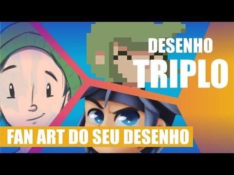 Fan art do seu desenho no canal 6 - Hoje o desenho é TRIPLO!