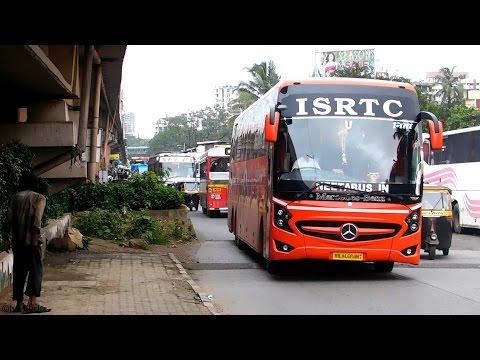 Volvo Low Floor & Mercedes Super High Deck Bus over Speed Breakers!