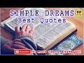 TOP 11 SIMPLE DREAMS QUOTES - Best Christmas Quotes