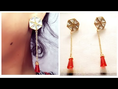(DIY)HOW TO MAKE BEAUTIFUL EARRINGS//HANDMADE JEWELLERY//HOORIYA STYLE..