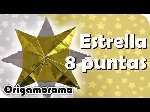 Haz Una Estrella De 8 Puntas Origaminavideño Youtube