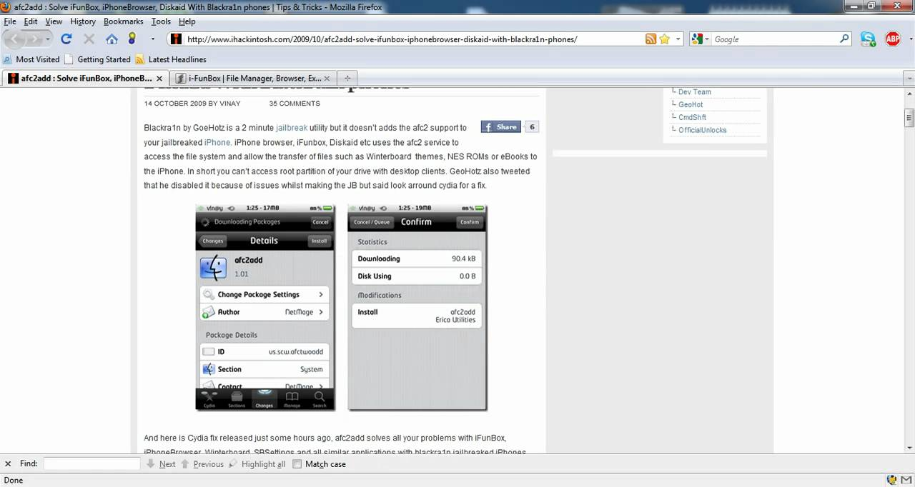 iOS iPhone, iPod Touch, iPad iFunbox get it working with Cydia