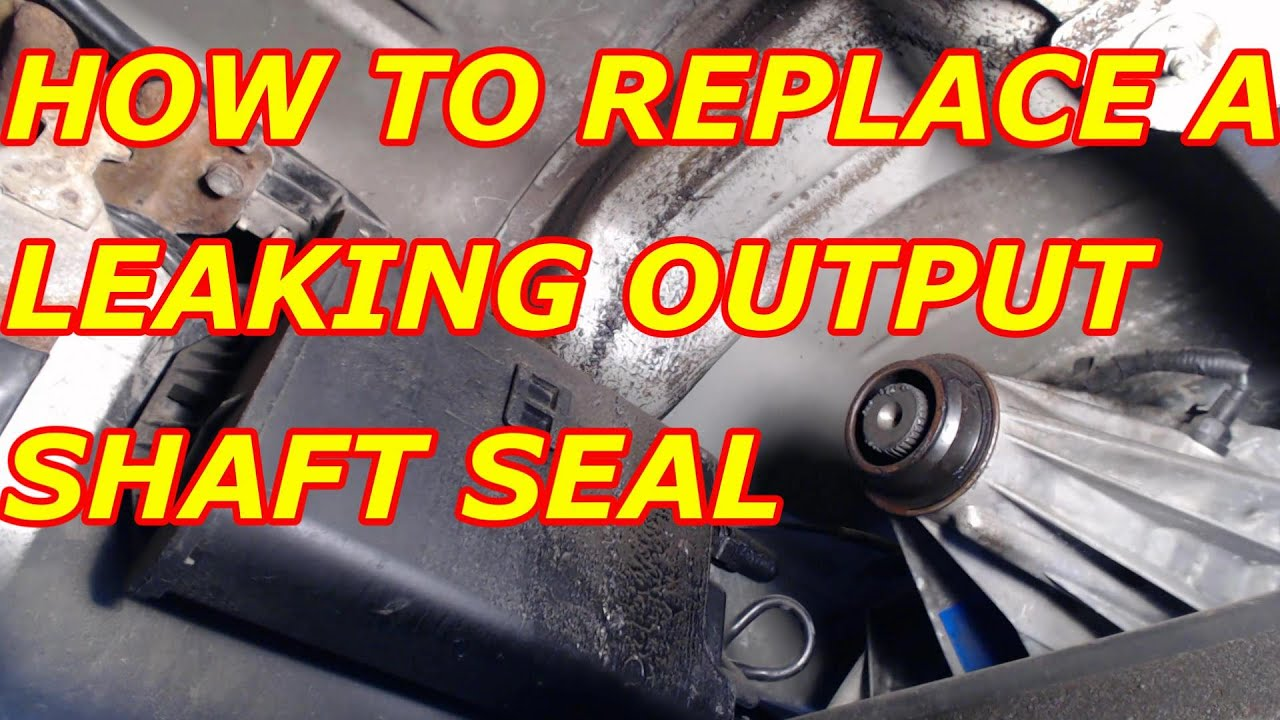 medium resolution of how to replace a leaking rear transfer case output seal chevy tahoe