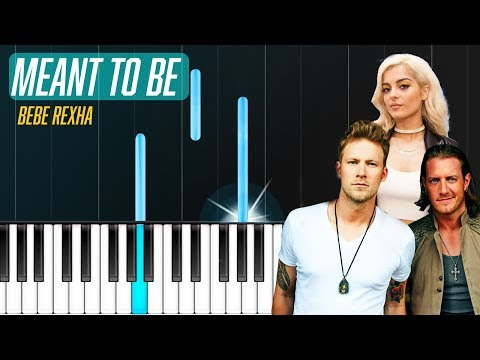 "Bebe Rexha - ""Meant To Be"" ft Florida Georgia Line Piano Tutorial - Chords - How To Play - Cover"