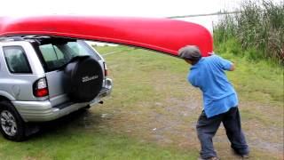 How to mount a canoe to your vehicle... cheap!