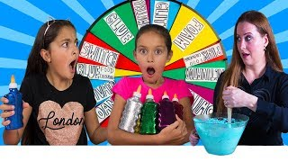 Mystery Wheel of Slime Challenge with our BFF!!