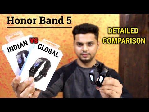 Honor Band 5 INDIAN Vs GLOBAL Version   DETAILED COMPARISON   HINDI