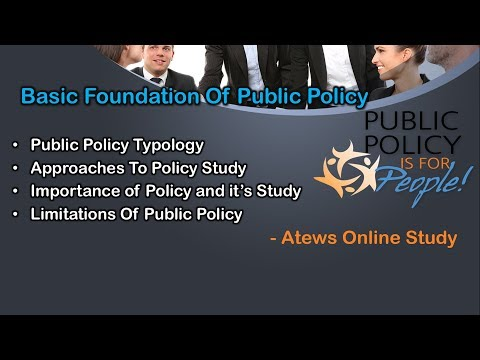 Public Policy- Typology,Approaches Study, Importance and Limitations
