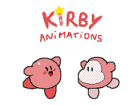 kirby animation !