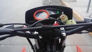 Moto 200 con turbo prueba de aceleracion