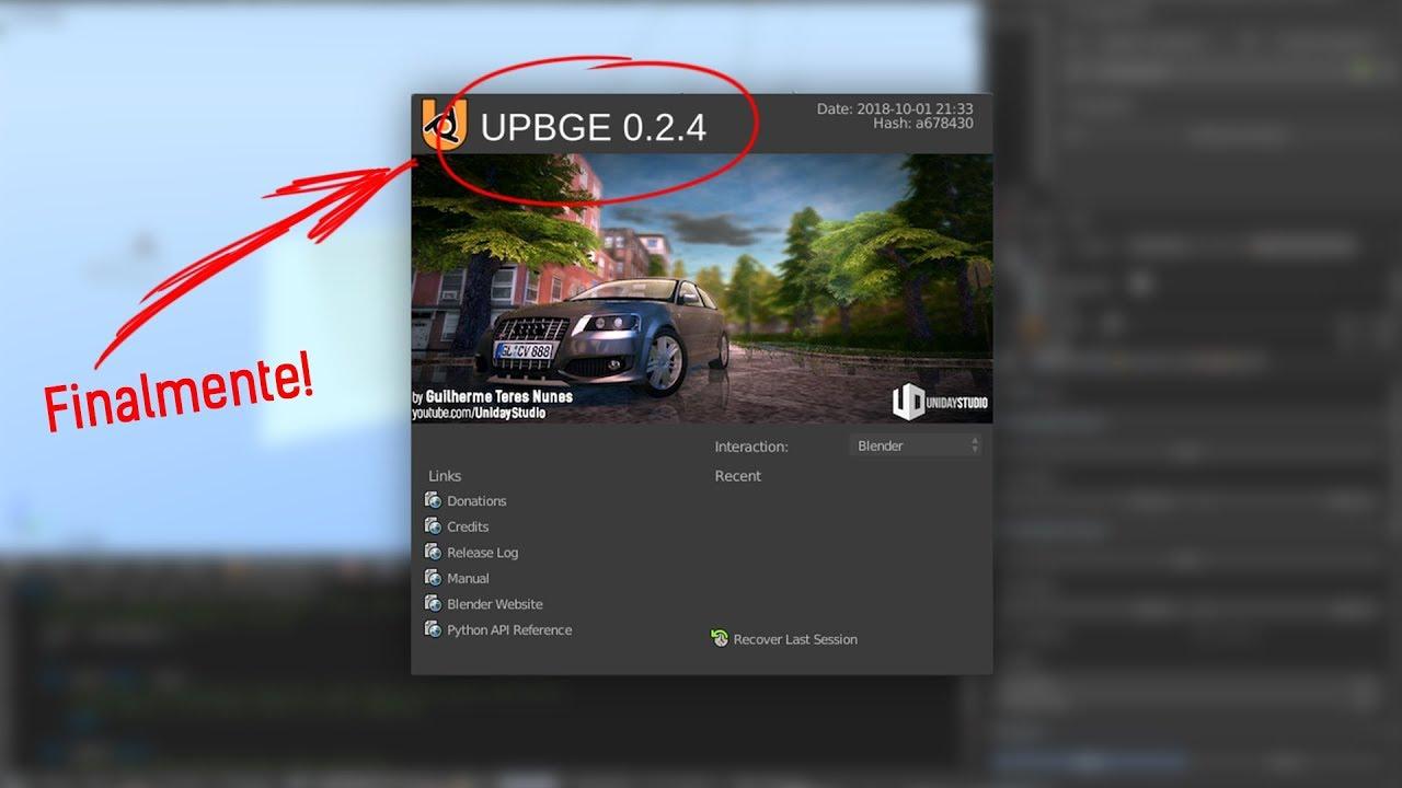 UPBGE 0 2 4 FINALMENTE NO AR!   O que há de novo? (Blender Game Engine)