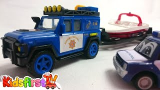 Kid's Toy Car Videos: Max's Boat Trip & Helicopter Rescue with Tow Truck! (Videos for Kids)