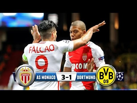 AS Monaco 3-1 Borussia Dortmund (6-3) / Champions League Cuartos de Final / Relato ESPN