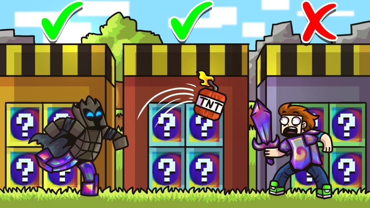 CHOOSE The SECRET SPIRAL LUCKY BLOCK DOOR In Minecraft! - Lucky Block Doors  Mini-Game