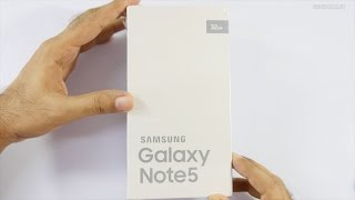 Galaxy Note 5 Unboxing (Silver Titanium) Indian Retail Unit