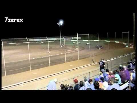 USAC Sprint Car Heat 3 Canyon Speedway Park 5-24-2014