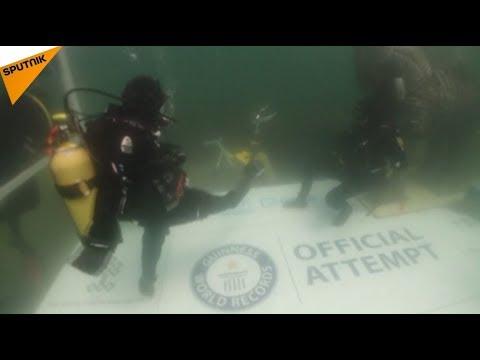 Турецкий аквалангист установил новый мировой рекорд