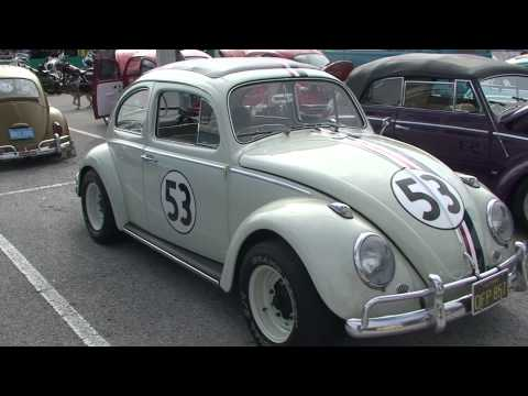 HERBIE THE LOVE BUG AT VW SHOW IN FLORIDA