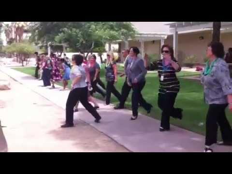 Mini flash mob at the Arizona Attorney General's office