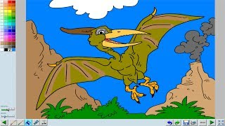 drawing coloring pterodactyl the flying reptile of the time of the dinosaur