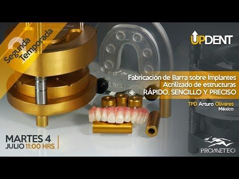 Fabricación de Barra sobre Implantes y Acrilizado de Estructuras.